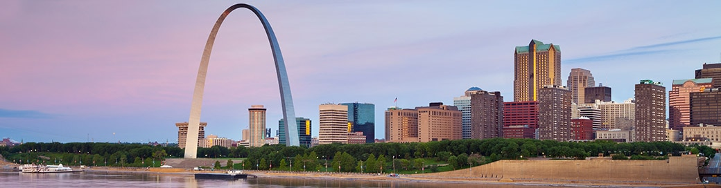 Image of the Gateway Arch in St. Louis, Missouri.