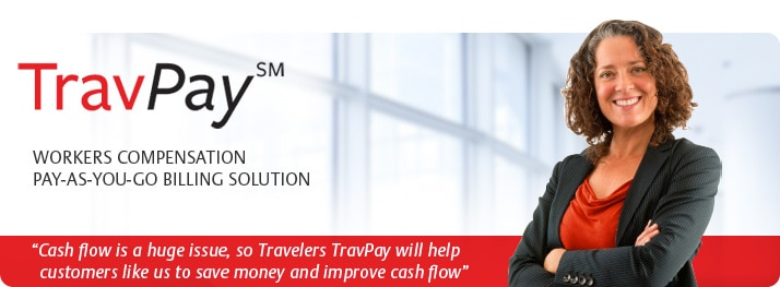 TravPay WORKERS COMPENSATION PAY-AS-YOU-GO BILLING SOLUTION FOR BUSINESS INSURANCE CLIENTS.