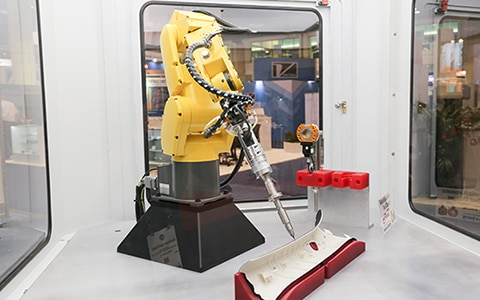 robot being used for manufacturing