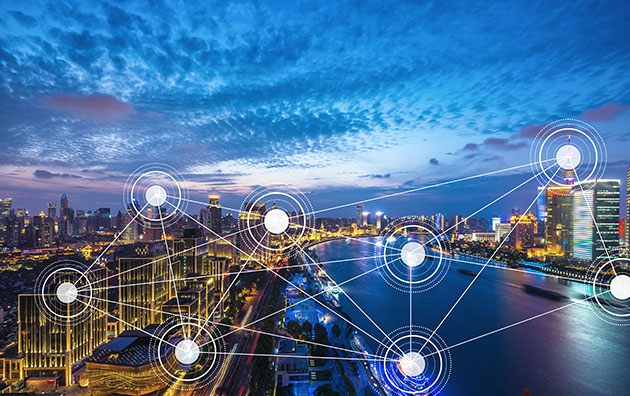 interconnected smart city infrastructure