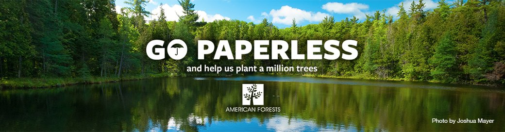 Choose paperless to help plant a million trees