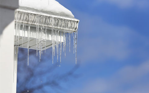 How to identify ice dams