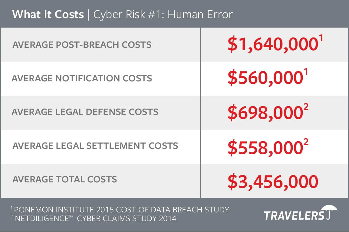 Chart of Cyber Risks #1 - Human Error