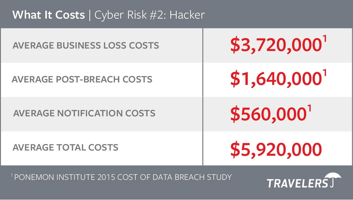 Chart of Cyber Risks #2 - Hacker