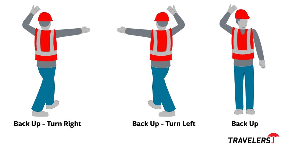 construction worker spotters - examples of signals