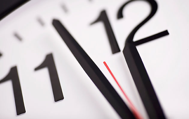 close up of a clock