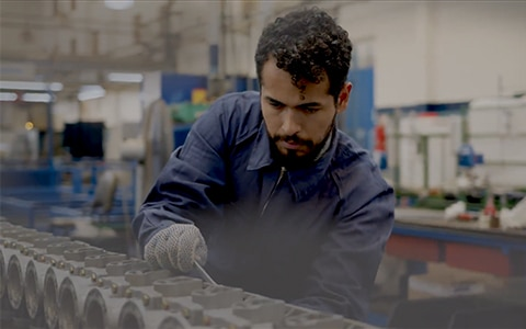 Image of man on manufacturing line