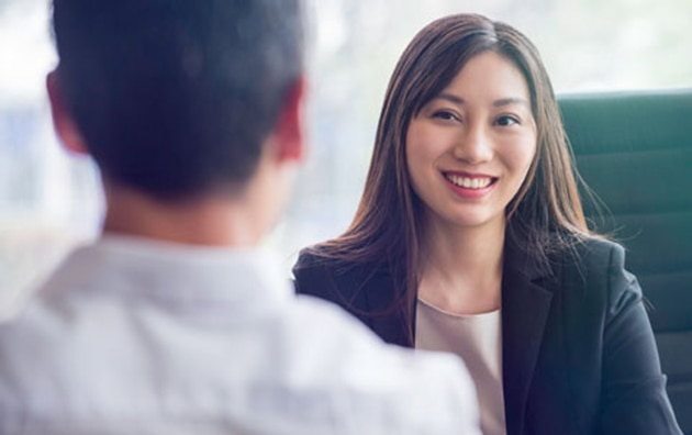 Person using behavioral interviewing on an interview