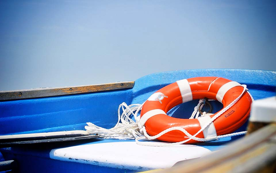 Flotation device on boat
