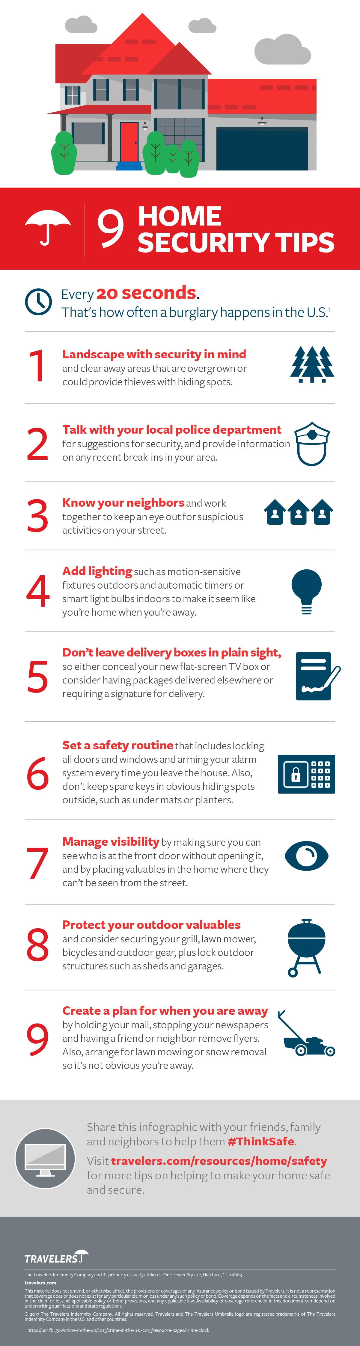 9 Home Security Tips Infographic