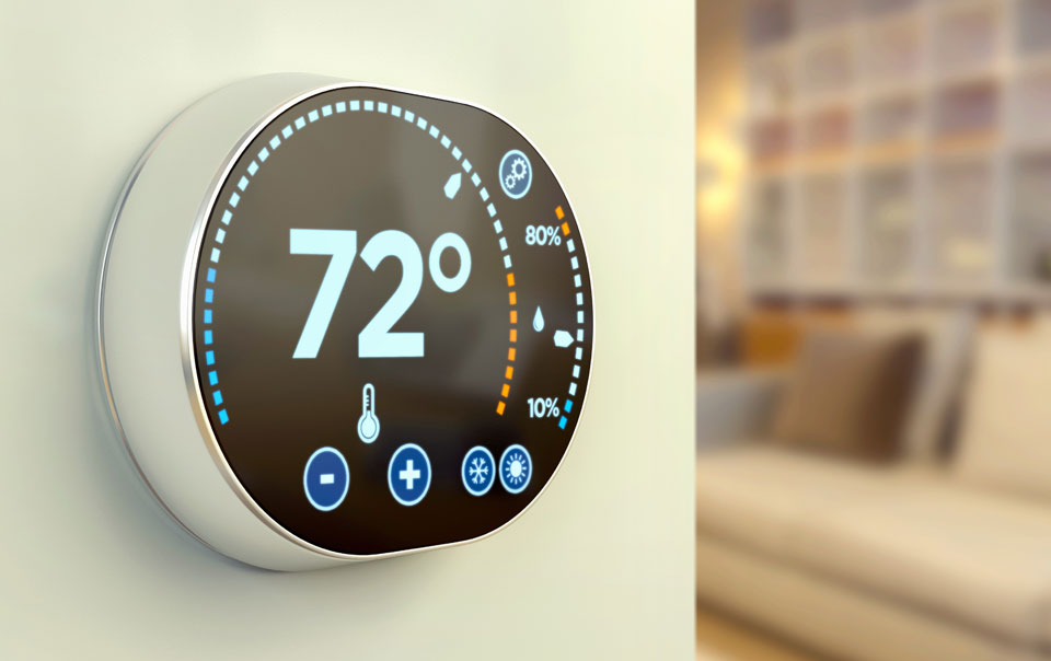 how smart thermostats can help protect your home travelers insurance. Black Bedroom Furniture Sets. Home Design Ideas