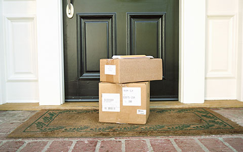 Packages outside of home