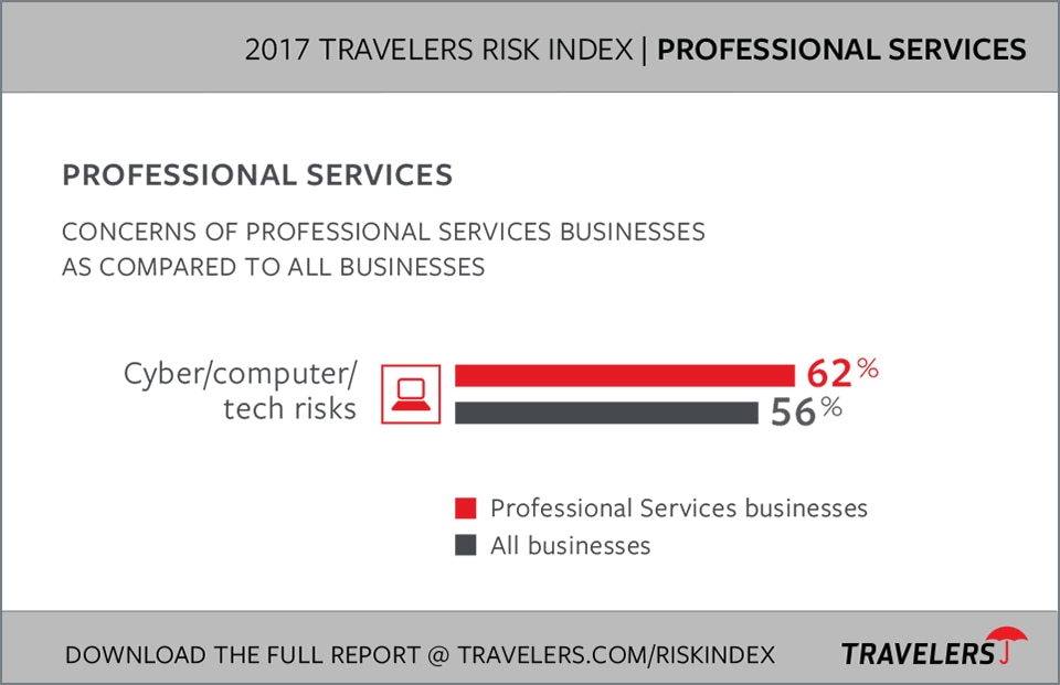 Professional Services Industry Risks chart