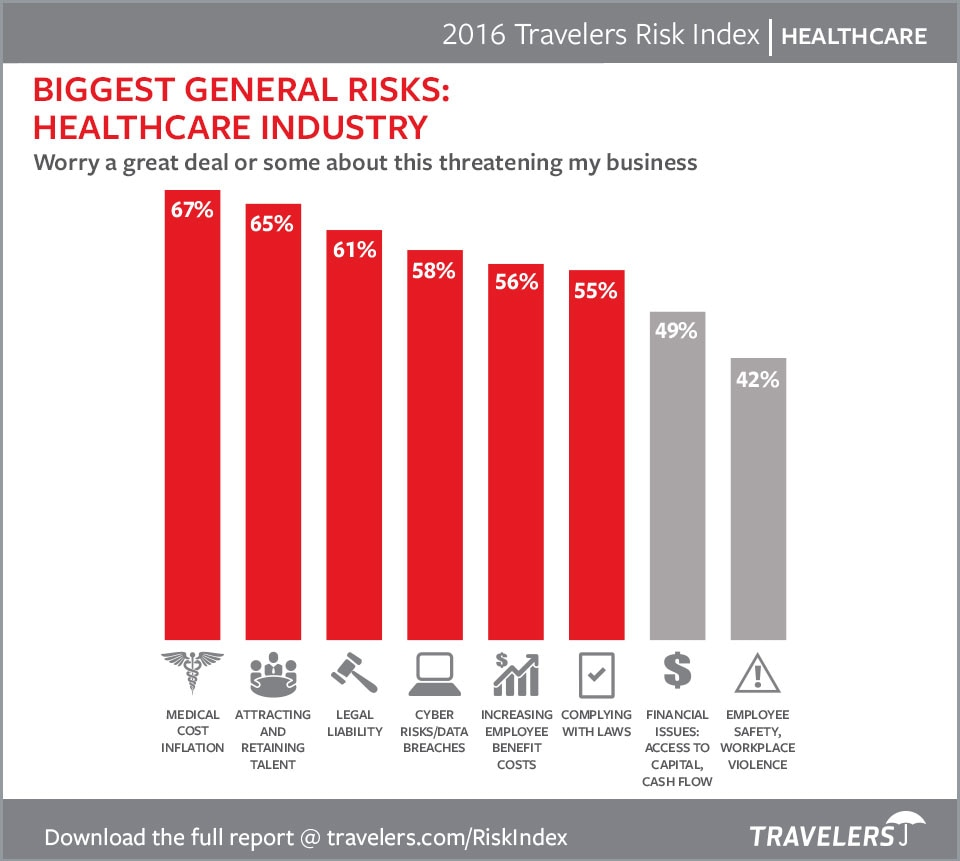 Healthcare risks 2016 chart
