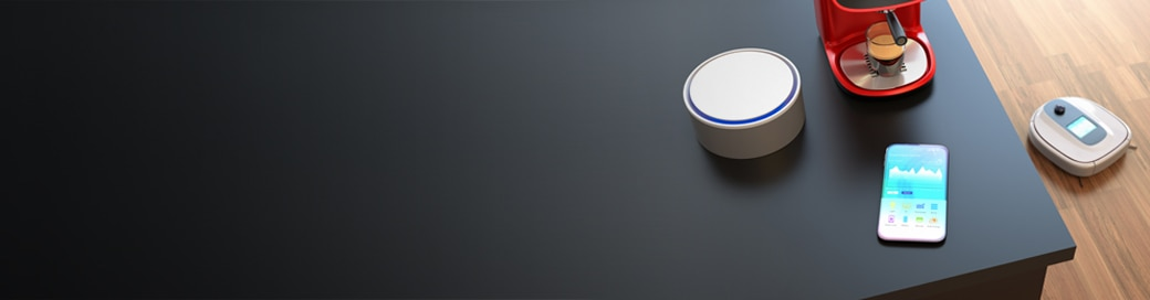 Smart home technology on a counter